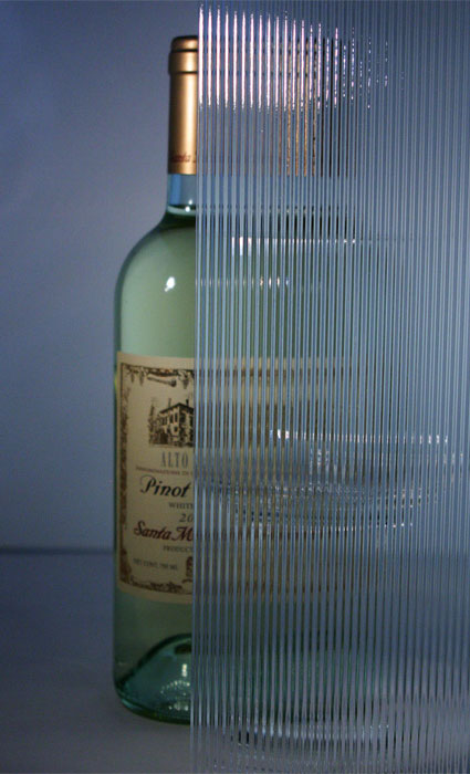European Clear Corduroy Patterned Glass