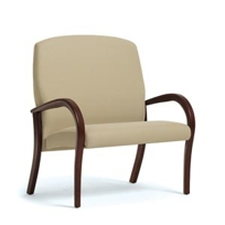 Merveilleux Arris Bariatric Patient Chair, Wallsaver Wood Arm, High Back By Wieland  Healthcare Furniture