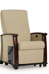 Versant Orthopedic Recliner, Wood Cap on Designer Page