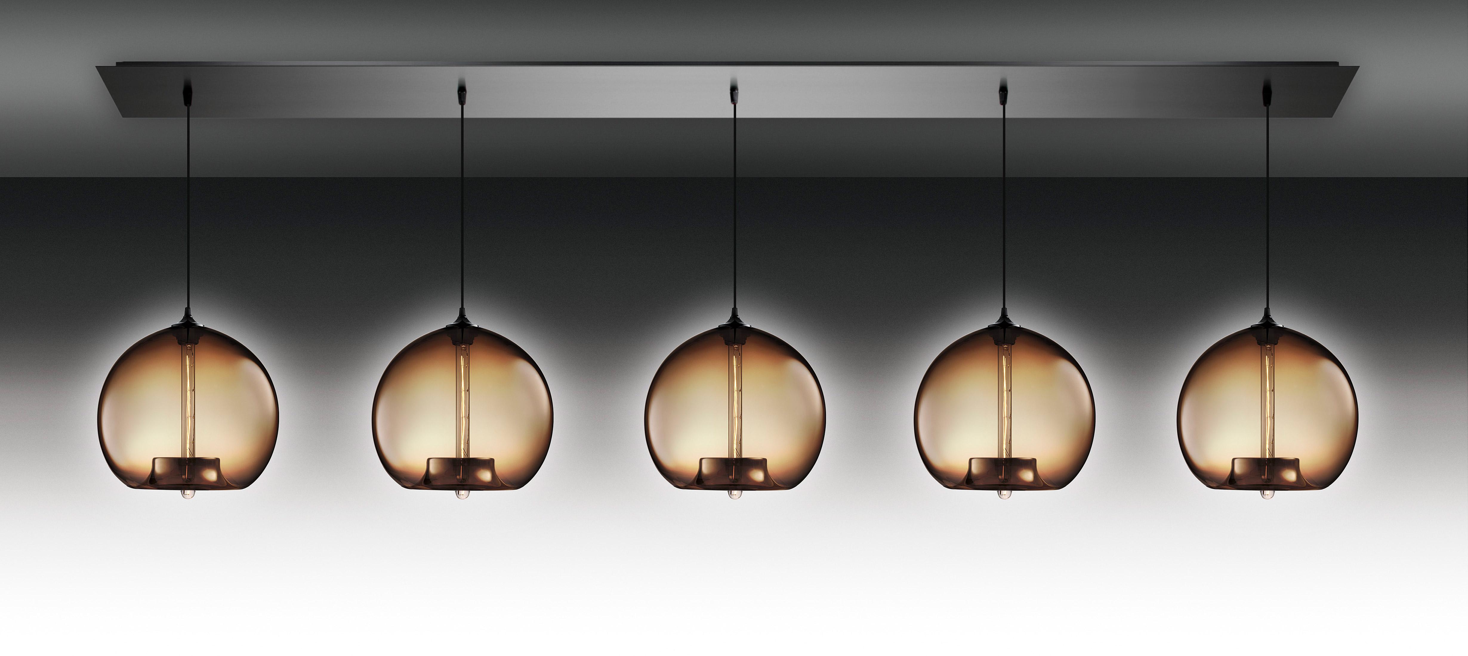 linear  modern chandelier on designer pages -