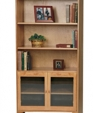 Shaker bookcase with glass doors 880 medium cropped