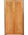 Solid wood bookcase full panel doors 884 medium cropped