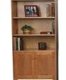 Solid wood bookcase panel doors 883 medium cropped