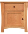 Andrews natural cherry night stand with door 962 medium cropped
