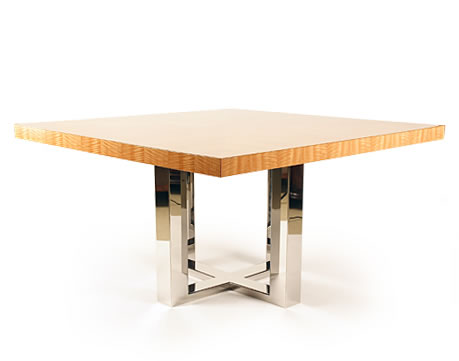 Superb Metal Solitaire Dining Table by Lorin Marsh
