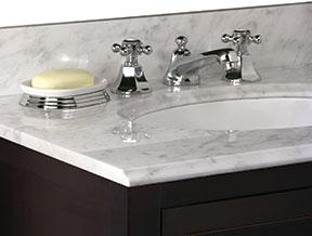 Carrara White Vanity Top On Designer Pages