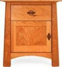 Cherry Moon 1 Drawer Night Stand With Door On Designer Pages