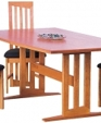 Modern contemporary trestle table boat top 618 medium cropped