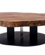 Walnut slab coffee table medium cropped