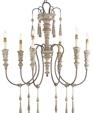9119 swedish white washed wood chandelier medium cropped