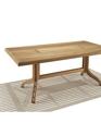 Rectangular teak table with wood top medium cropped