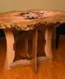Burl top circle base table medium cropped