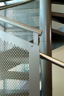 Perforated Metal Panel on Designer Page
