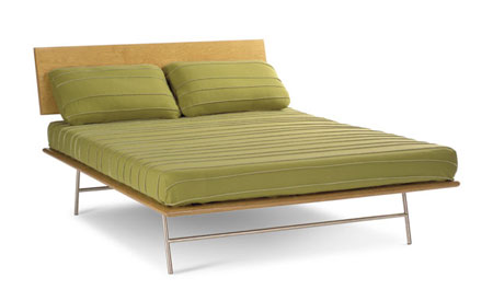 Alpine Series Bed from Modernica   Design Milk Case Study V leg Corner Table