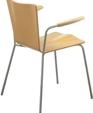 350 metal frame wood seat armchair medium cropped