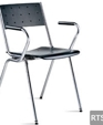 358 metal frame wood seat stacking armchair medium cropped