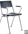 358 metal frame wood seat stacking armchair medium cropped