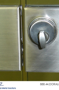 Slimline Glass Door Center Lock Housings on Designer Page