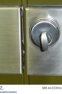 Slimline Glass Door Center Lock Housings on Designer Page