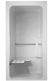 ADA One Piece Barrier-Free Shower Module (Model: A3636.05D) on Designer Page
