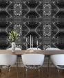 ©2011 edge wallcoverings marakesch sequin grey dining room render medium cropped