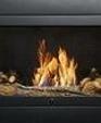 Large modern black ventless fireplace medium cropped