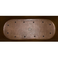 72 Riley Double Wall Hexagon Copper Soaking Air Bath Tub On