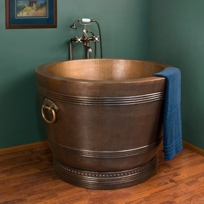 japanese copper soaking tub. Dorah Hammered Copper Japanese Style Soaking Air Bath Tub with Rings by  Signature Hardware Designer Pages Search Results