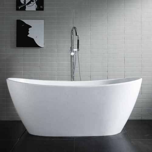 Freestanding Tub With Air Jets. Winifred Freestanding Resin Air Bath Tub  on Designer Pages