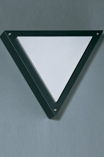 d1310 AMBIO outdoor/indoor triangular wall sconce ADA on Designer Page