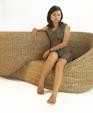 Moebius onyx design armchair rattan water hyacinth 6large medium cropped