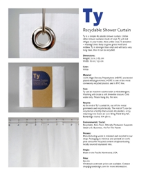 Ty Recyclable Shower Curtain On Designer Pages
