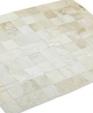 White cowhide patchwork rug medium cropped