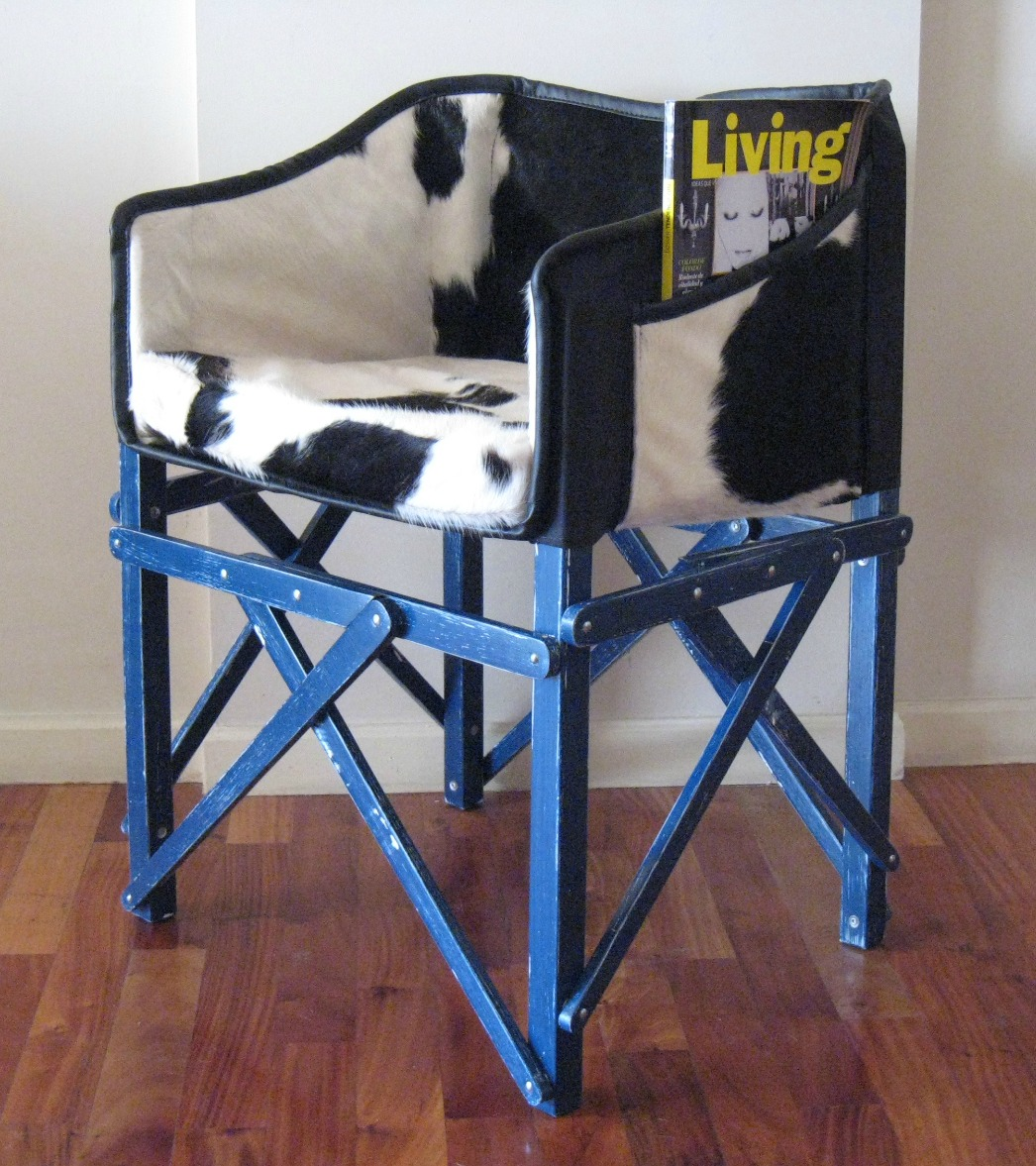 Cocktail Club Chair Beautiful Folding Cowhide Wood Chair