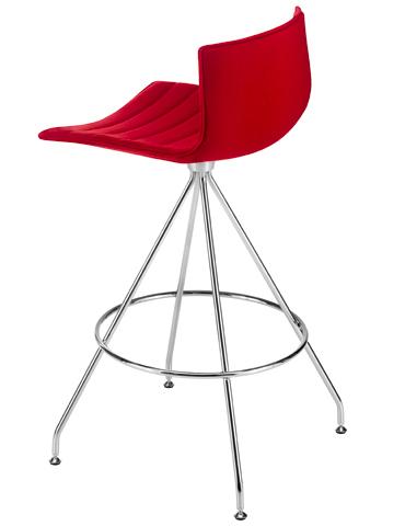 Catifa 46 - Counter stool with trestle swivel base