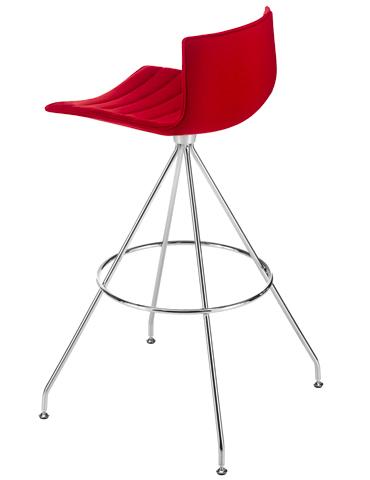 Catifa 46 - Bar stool with trestle swivel base