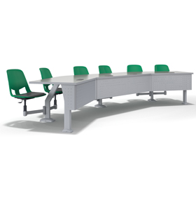 Us Fixed Lecture, Swing-Away Chair Module and Fixed Pedestal or Jury-Base Chair Module