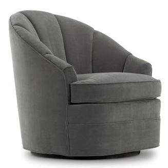 modern luxury club chair with channel back and swivel