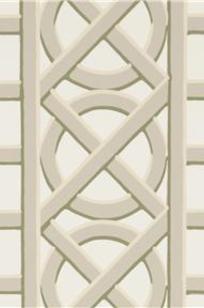 TREILLAGE BORDER GREY ON WHITE on Designer Page