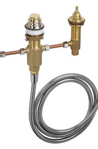 Basic set for 4-hole rim mounted bath mixer on Designer Page