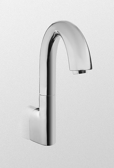 Tel3ggw10     wall   mount gooseneck ecopower  faucet     1 0 gpm     single supply