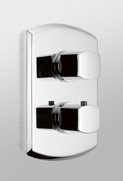 Ts960d     soir e  thermostatic mixing valve trim with dual volume control