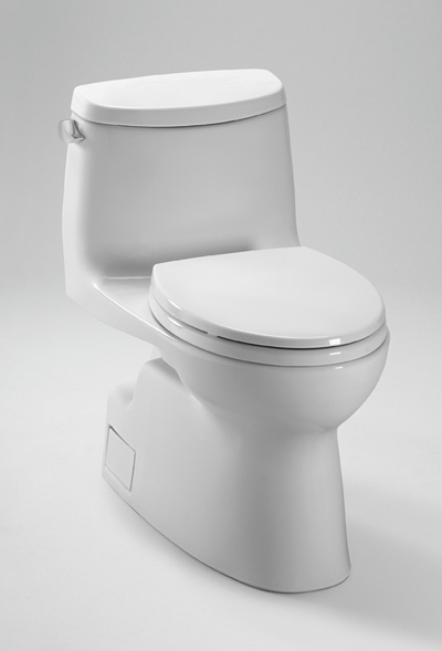 Ms614114cefg     carlyle  ii one   piece high   efficiency toilet  with sanagloss  1 28gpf