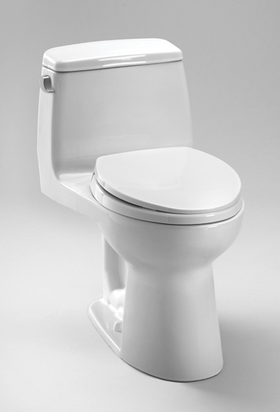 Ms854114elg     eco ultramax  one piece toilet  ada height  1 28 gpf     sanagloss