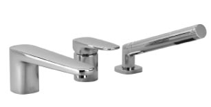Gentle   three hole single lever tub mixer for deck mounted tub installation   27312720 1