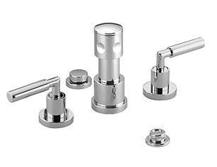 Tara  logic   four hole bidet set with pipe interrupter   1