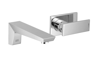 Supernova   wall mounted single lever mixer with individual flanges   36812730 0