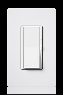 Diva dimmer & switch - Claro / Satin Colors Switch with Locator Light on Designer Page
