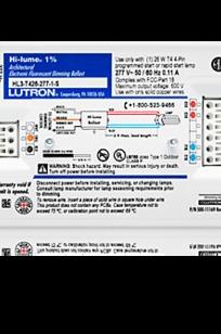 Hi-lume Ballast for T5-HO Linear on Designer Page