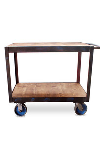 Crash Industrial Rolling Cart - Black on Designer Page